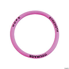 Pink Courage Silicone Bracelets