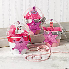 Pink Cowgirl Favor Tins Idea