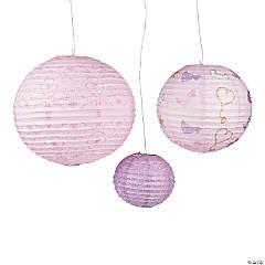 Pink Cowgirl Hanging Paper Lanterns