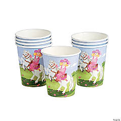 Pink Cowgirl Paper Cups
