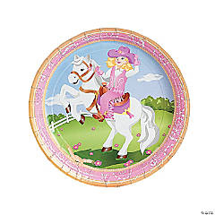 Pink Cowgirl Paper Dinner Plates