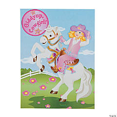 Pink Cowgirl Sticker Scenes