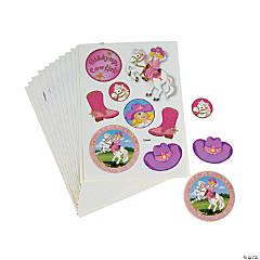 Pink Cowgirl Sticker Sheets