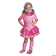 Pink Deluxe Spider-Girl Toddler's Costume