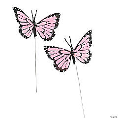 Pink Feather Butterflies