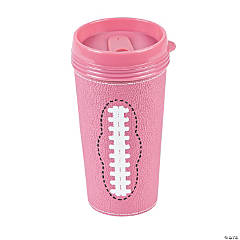 Pink Football Travel Mugs