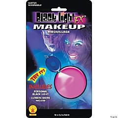 Pink Glow Blacklight Makeup