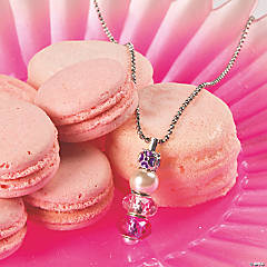 Pink Large Hole Pendant Necklace Idea