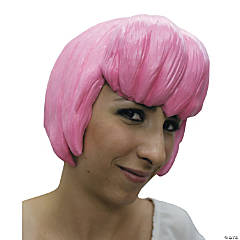 Pink Latex Anime Wig