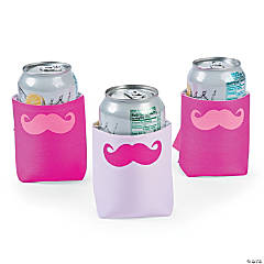Pink Mustache Can Covers