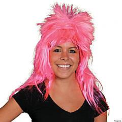 Pink Neon Mullet Wig