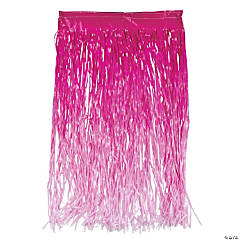Pink Ombré Color Grass Hula Skirt