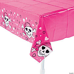 Pink Pirate Girl Tablecloth