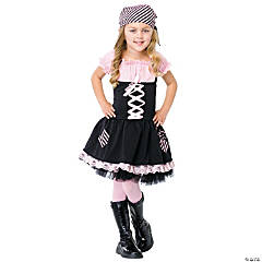 Pink Pirate Girl's Costume