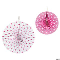 Pink Polka Dot Hanging Fans