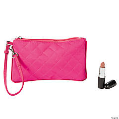 Pink Quilted Wristlet Purse