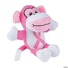 Pink Ribbon Awareness Stuffed Monkeys