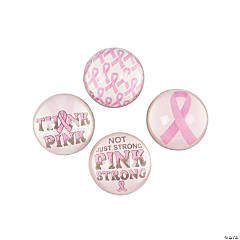 Pink Ribbon Bouncing Balls