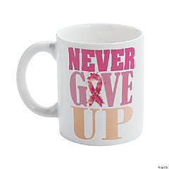 Pink Ribbon Ceramic Mug