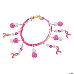 Pink Ribbon Dangle Bracelet Idea