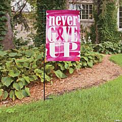 Pink Ribbon Garden Flag