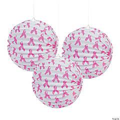 Pink Ribbon Hanging Paper Lanterns