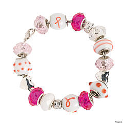 Pink Ribbon Large Hole Bracelet Idea