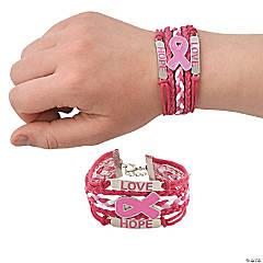 Pink Ribbon Layered Bracelets