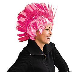 Pink Ribbon Mohawk Wig