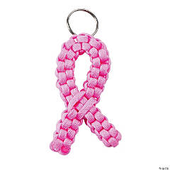 Pink Ribbon Paracord Key Chain Craft Kit
