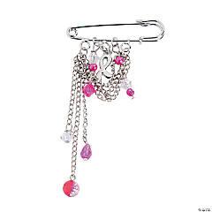Pink Ribbon Pin Craft Kit