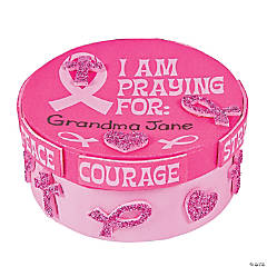 Pink Ribbon Prayer Box Craft Kit