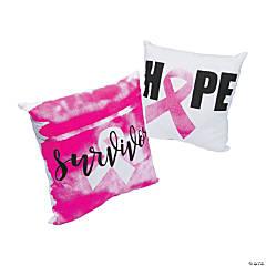 Pink Ribbon Throw Pillows