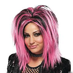 Pink Rock Longer Wig