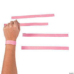 Pink Self-Adhesive Wristbands