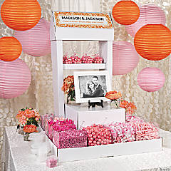 Pink Spring Wedding Candy Buffet Idea
