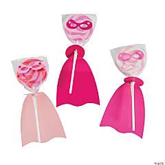 Pink Superhero Lollipops