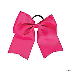 Pink Team Spirit Hair Bow