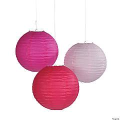 Pink Tones Hanging Paper Lanterns