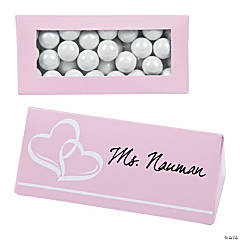 Pink Wedding Place Card Favor Boxes