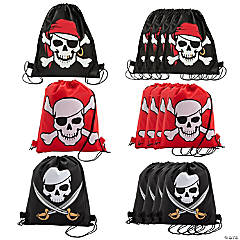 Pirate Drawstring Bags