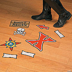 Pirate Map Floor Decals