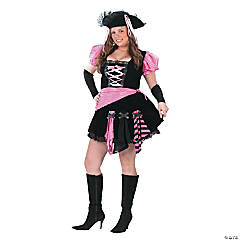Pirate Pink Punk Plus Size Costume for Women