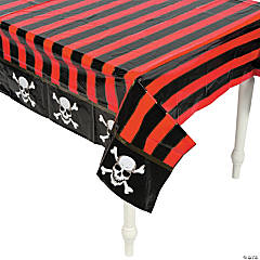 Pirate Printed Plastic Tablecloth