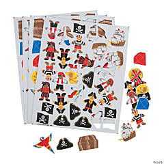 Pirate Self-Adhesive Shapes
