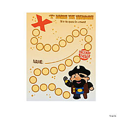 Pirate's Treasure Punch Cards