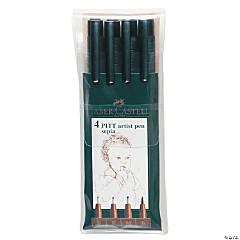 Pitt Artist Pen Wallet Set of 4 Sepia