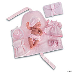 Pitu Baby Girl Doll With Changing Pad