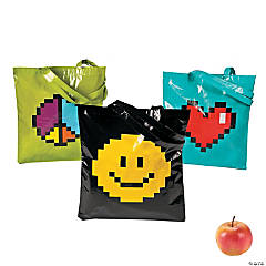 Pixel Character Tote Bags
