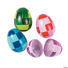Pixel Pattern Plastic Easter Eggs